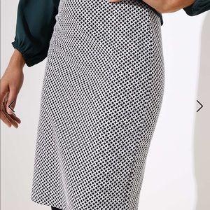 NWT loft Lattice Jacquard Pencil Skirt xl